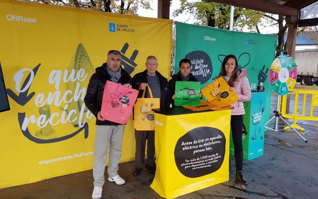 A Xunta trae a Muimenta a campaña 'O que se enchufa, recíclase', que busca promover a reciclaxe de aparatos eléctricos