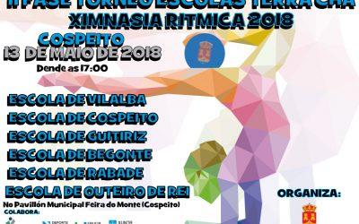 O próximo 13 de maio celebrarase a 2ª Fase do torneo de escolas da terra chá de Ximnasia Rítmica